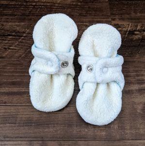 Zutano Cream Cozie Fleece Baby Booties